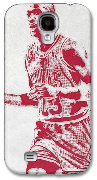 Michael Jordan Chicago Bulls Pixel Art 2 Galaxy S4 Case