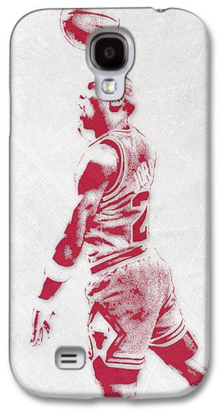 Michael Jordan Chicago Bulls Pixel Art 3 Galaxy S4 Case by Joe Hamilton