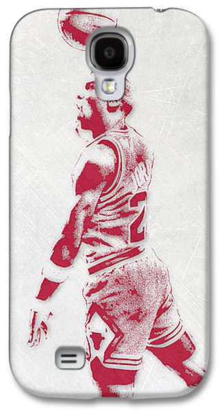 Michael Jordan Chicago Bulls Pixel Art 3 Galaxy S4 Case