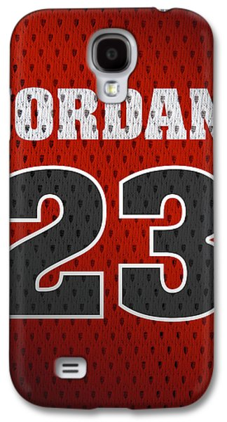 Michael Jordan Chicago Bulls Retro Vintage Jersey Closeup Graphic Design Galaxy S4 Case