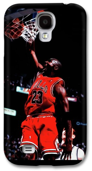 Michael Jordan Game Point Galaxy S4 Case by Brian Reaves