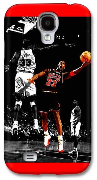 Michael Jordan Left Hand Galaxy S4 Case by Brian Reaves