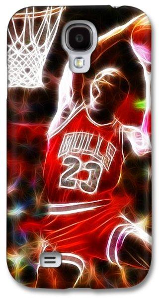 Michael Jordan Magical Dunk Galaxy S4 Case by Paul Van Scott