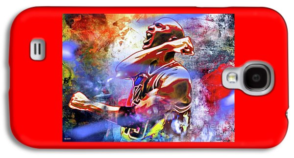 Michael Jordan Painted Galaxy S4 Case by Daniel Janda