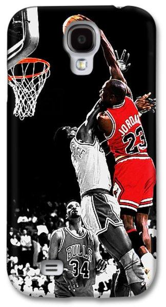 Michael Jordan Power Slam Galaxy S4 Case by Brian Reaves