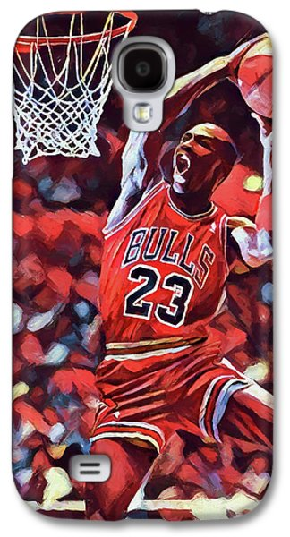 Michael Jordan Slam Dunk Galaxy S4 Case by Dan Sproul
