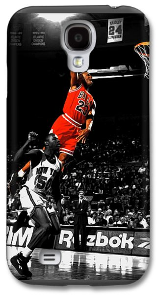 Michael Jordan Suspended In Air Galaxy S4 Case by Brian Reaves