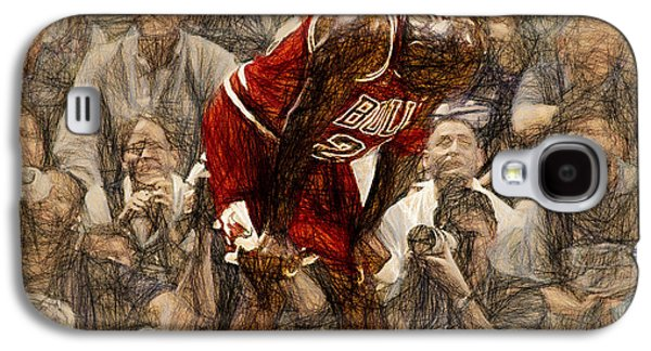 Michael Jordan The Flu Game Galaxy S4 Case by John Farr