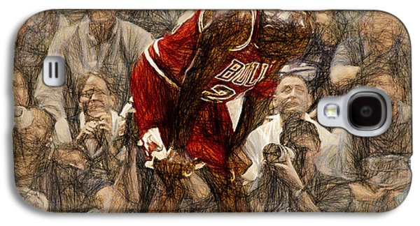 Michael Jordan The Flu Game Galaxy S4 Case by John Farr