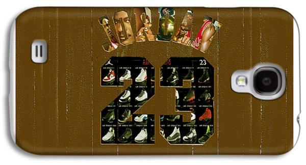 Michael Jordan Wood Art 2k Galaxy S4 Case by Brian Reaves