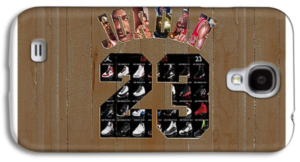 Michael Jordan Wood Art 2m Galaxy S4 Case by Brian Reaves
