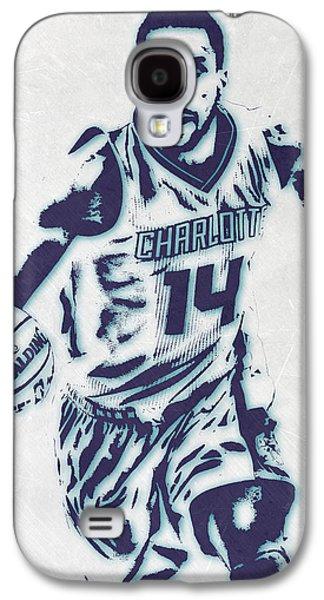 Michael Kidd-gilchrist Charlotte Hornets Pixel Art Galaxy S4 Case by Joe Hamilton