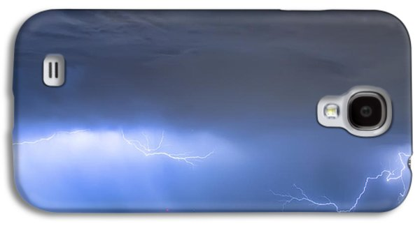 Galaxy S4 Case featuring the photograph Michelangelo Lightning Strikes Oil by James BO Insogna