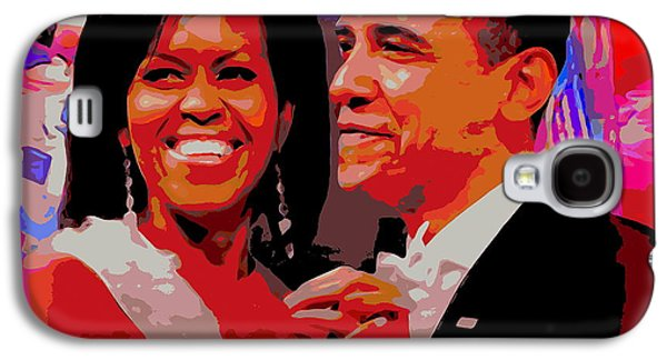 Michelle And Barack Galaxy S4 Case by Ed Weidman