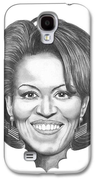 Michelle Obama Galaxy S4 Case by Murphy Elliott