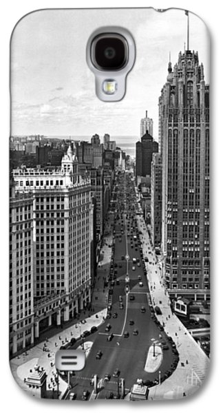 Michigan Avenue In Chicago Galaxy S4 Case by Underwood Archives