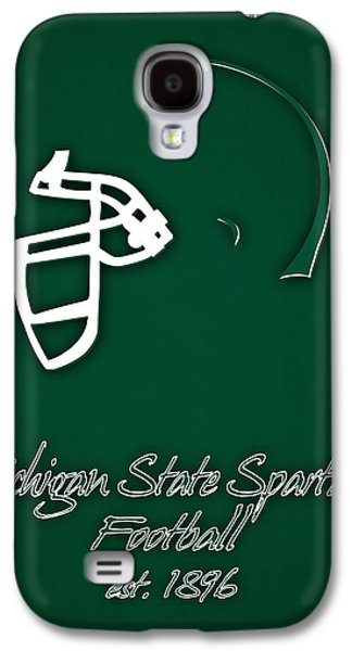 Michigan State Galaxy S4 Case - Michigan State Spartans Helmet by Joe Hamilton