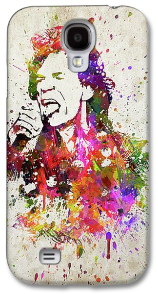 Mick Jagger In Color Galaxy S4 Case by Aged Pixel