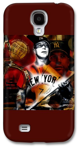 Mickey Mantle Collection Galaxy S4 Case by Marvin Blaine