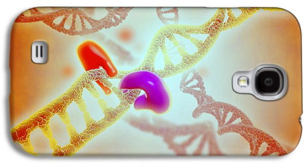 Microscopic View Of Dna Binding Galaxy S4 Case by Stocktrek Images