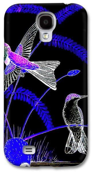 Mid-night Humming Bird Galaxy S4 Case by Dwayne Hamilton