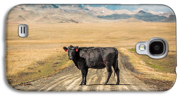 Cow Galaxy S4 Case - Middle Of The Road by Todd Klassy