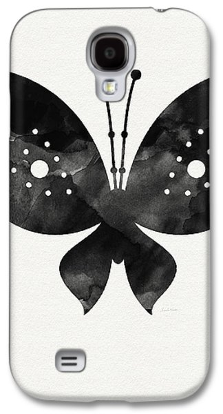 Midnight Butterfly 2- Art By Linda Woods Galaxy S4 Case by Linda Woods