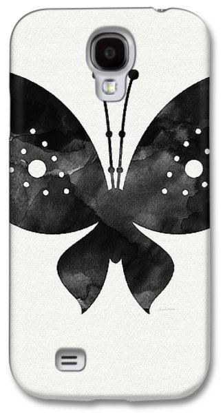Midnight Butterfly 2- Art By Linda Woods Galaxy S4 Case