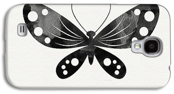 Midnight Butterfly 3- Art By Linda Woods Galaxy S4 Case by Linda Woods