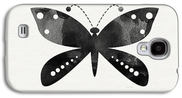 Midnight Butterfly 4- Art By Linda Woods Galaxy S4 Case by Linda Woods