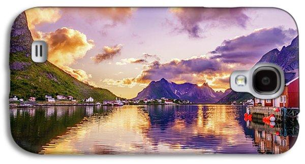 Midnight Sun Reflections In Reine Galaxy S4 Case