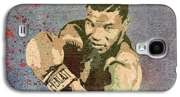 Mike Tyson Concrete Grunge Galaxy S4 Case by Dan Sproul