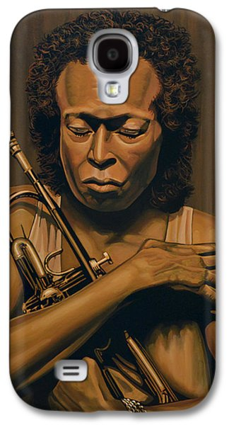 Trumpet Galaxy S4 Case - Miles Davis Painting by Paul Meijering