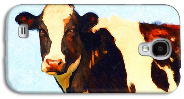 Cow Digital Galaxy S4 Cases - Milk Cow . Photoart Galaxy S4 Case by Wingsdomain Art and Photography