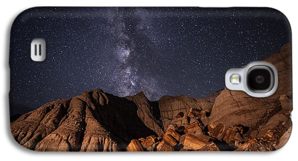 Milky Way And Petrified Logs Galaxy S4 Case by Melany Sarafis