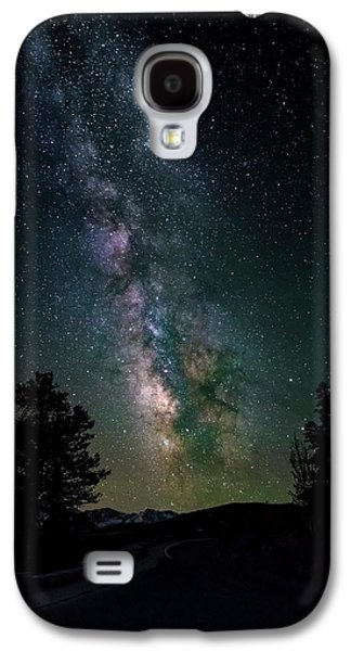 Milky Way Over Rocky Mountains Galaxy S4 Case