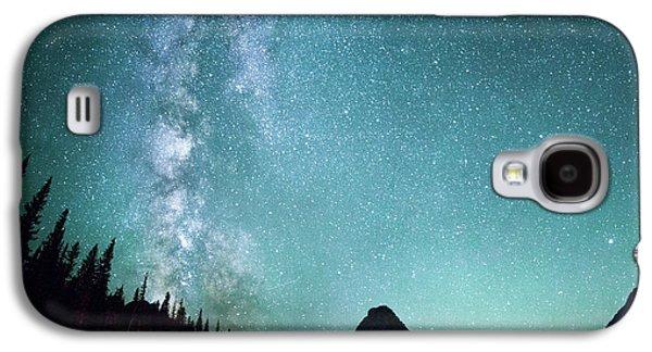 Milky Way // Two Medicine Lake, Glacier National Park Galaxy S4 Case