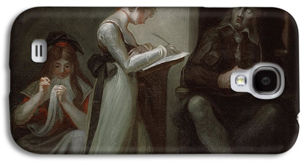 Milton Dictating To His Daughter Galaxy S4 Case by Henry Fuseli