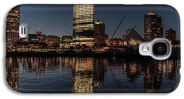 Galaxy S4 Case featuring the photograph Milwaukee Reflections by Randy Scherkenbach