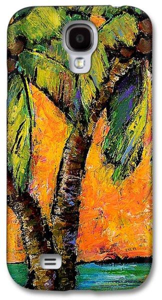 Mimosa Sky Palm Galaxy S4 Case by Blenda Studio