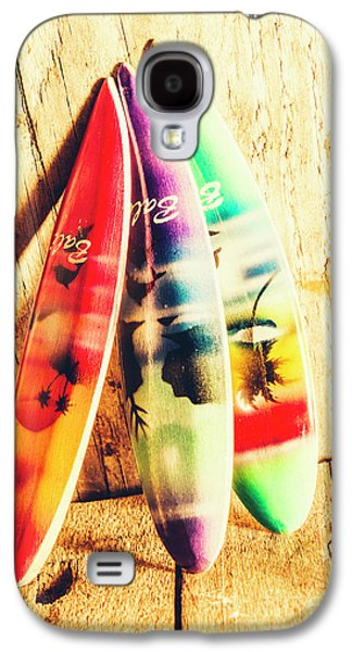 Miniature Surfboard Decorations Galaxy S4 Case by Jorgo Photography - Wall Art Gallery