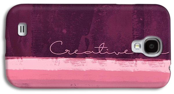 Minima - Creative Me - R01at55 - Pinks Galaxy S4 Case by Variance Collections