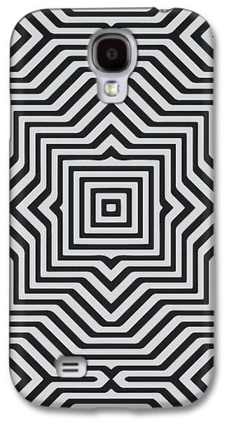 Minimal Geometrical Optical Illusion Style Pattern In Black White T-shirt  Galaxy S4 Case