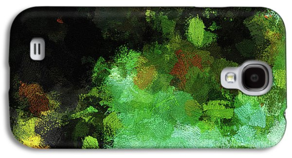 Minimalist And Abstract Painting In Green Tones Galaxy S4 Case by Ayse Deniz