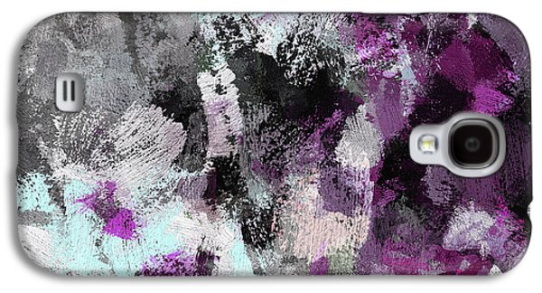 Minimalist And Modern Abstract Painting In Purple Color Galaxy S4 Case by Ayse Deniz