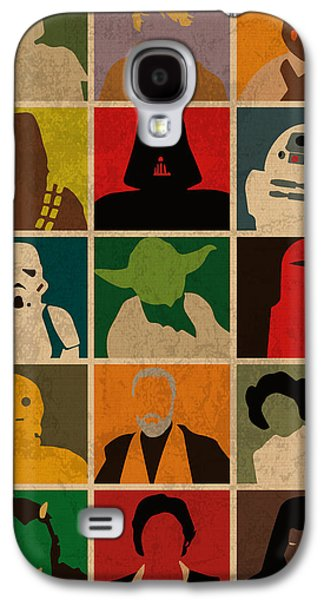 Minimalist Star Wars Character Colorful Pop Art Silhouettes Galaxy S4 Case by Design Turnpike