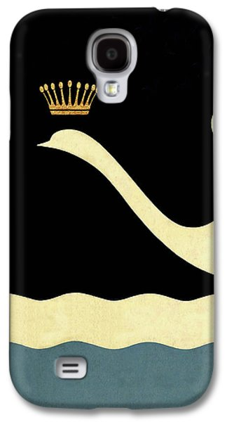 Minimalist Swan Queen Flying Crowned Swan Galaxy S4 Case by Tina Lavoie