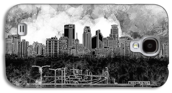 Minneapolis Skyline Abstract 2 Galaxy S4 Case