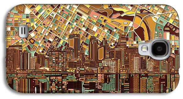 Minneapolis Skyline Abstract 8 Galaxy S4 Case