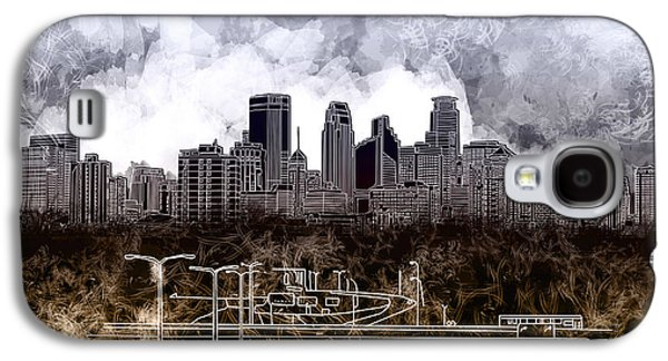 Minneapolis Skyline Abstract Galaxy S4 Case